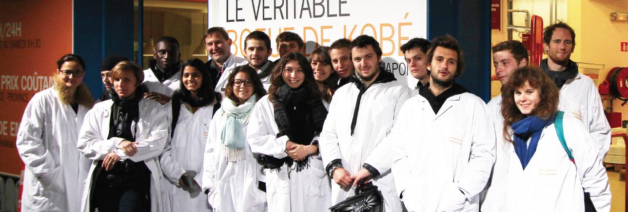 les élèves de l'ENSAD chez Le Delas- Rungis